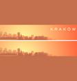 krakow beautiful skyline scenery banner vector image