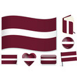latvian national flag in vector image vector image