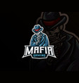 mafia skull mascot sport logo design vector image