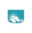 mountain sunny day nature logo vector image