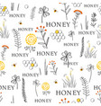 nature seamless background with hand drawn vector image vector image