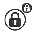 Padlock lock simple single color icon isolated on vector image