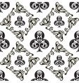 Pattern Club Ornamental Black and White vector image vector image
