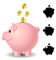 Piggy bank set vector image vector image