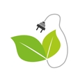 Plug and leaf icon Save energy design vector image vector image