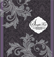Purple and gray invitation card