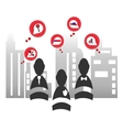 Red business icon vector image vector image