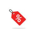 sale tag icon flat cartoon discount label vector image vector image