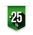 Sale twenty five percent off banner red ribon vector image vector image