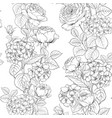 seamless pattern of rose flower for fabric design vector image vector image