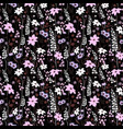 seamless pattern wind blow flowers isolated vector image vector image
