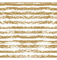 seamless striped gold pattern hand painted with vector image vector image