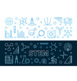 set 2 stem concept outline colored vector image vector image