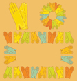 Set of colored gloves vector image
