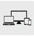 set of electronic devices icon vector image vector image