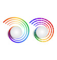 set rainbow round banners with place for text vector image vector image