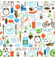 Sport Diet and Fitness pattern vector image vector image
