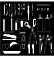 stationery icons 00 vector image