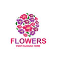 stylish flowers logo vector image vector image