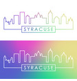 syracuse city skyline colorful linear style vector image vector image