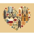 Traditional symbols of the Prague and Czech vector image vector image