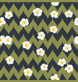 tropical flowers seamless pattern exotic plumeria vector image vector image