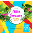 tropical summer party vector image vector image