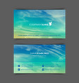 two-sided horizontal business cards with realistic vector image