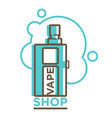 vape shop logotype isolated in vector image vector image