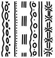 vertical ethnic pattern vector image vector image