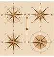 vintage compasses set vector image vector image