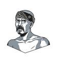 vintage monochrome concept latino man vector image vector image
