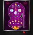 violet pinball composition vector image