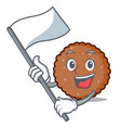 with flag chocolate biscuit mascot cartoon vector image