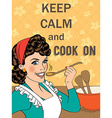 with massageKeep calm and cook on vector image vector image