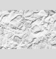 wrinkled white horizontal paper vector image vector image