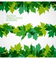 border with green leaves vector image
