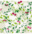 Seamless pattern with cherry vector image