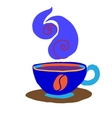 Cartoon coffee cup icon vector image