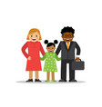 mixed family of different races vector image