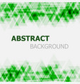 abstract green triangle overlapping background vector image