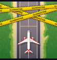 airplane stopped on road the concept the vector image vector image