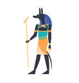 anubis - god of afterlife patron deity or vector image
