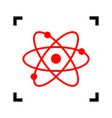 Atom sign red icon inside