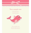 Baby card with dolphin toy vector | Price: 1 Credit (USD $1)