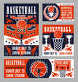 basketball sport college league championship vector image vector image