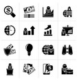 black business and finance strategies icons vector image