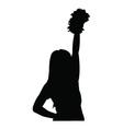 cheerleader silhouette vector image vector image
