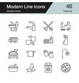 cleaning icons modern line design set 46 for vector image