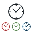 Clock grunge icon set vector image vector image